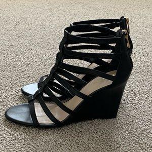 Browns Black Wedge Sandals.